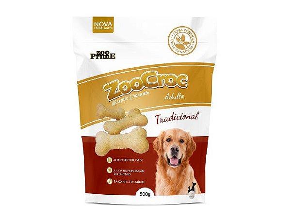 Zoocroc  Biscoito Crocante Tradicional Adulto 500gr