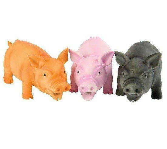 Brinquedo Porco Luxo em vinil c/ som - aprox. 20cm