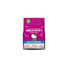 Areia Higiênica Hello Kitty Biodegradável Fina (ROSA) 2kg