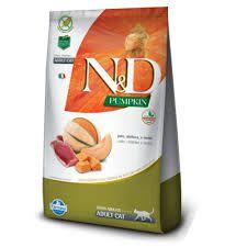 Ração Farmina N&D Pumpkin Pato, Abóbora e Melão para Gatos Adultos 1,5kg