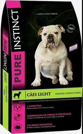 Ração Pure Instinct Adulto Mini Bits Light 15kg