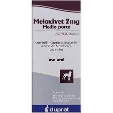 Anti-Inflamatório Meloxivet 10 comprimidos para Cães de Médio Porte - 2 mg