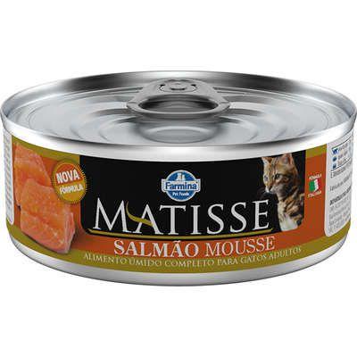 Ração Úmida Farmina Matisse Salmão Mousse para Gatos Adultos 85gr