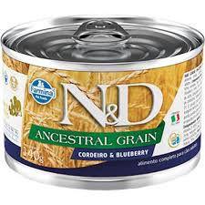 N&D Lata Ancestral Grain Cordeiro & Blueberry para Cães Adultos 140gr
