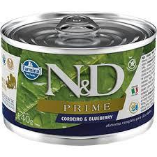 N&D Lata Prime Cordeiro & Blueberry para Cães Adultos 140gr