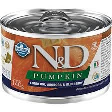 N&D Lata Pumpkin Cordeiro, Abobora & Blueberry para Cães Adultos 140gr