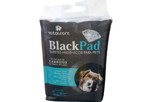 Tapetes Higiênicos para Pets BlackPad Carbono de Bambu Ativado 14unid - 80cmx60cm
