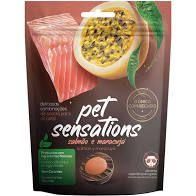 Petisco Snack Pet Sensations Sabor Salmão e Maracujá para Gatos 65gr