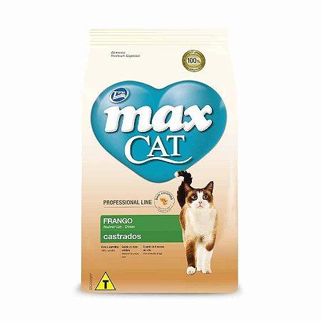 Ração Max Cat para Gatos Castrados sabor Frango 10,1kg