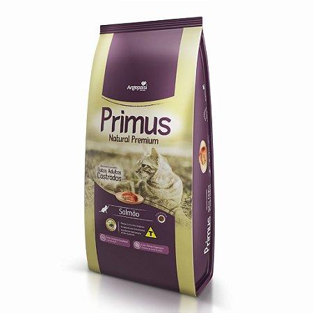 Ração Primus Natural Premium Salmão Castrados 10,1kg (10 pacotes individuais de 1,01kg)