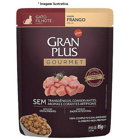 Ração Úmida Sachê Gran Plus Gourmet Gatos Filhotes Frango 85g