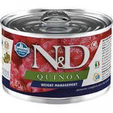 Ração Úmido Lata N&D Cães Quinoa Weight Management 140g