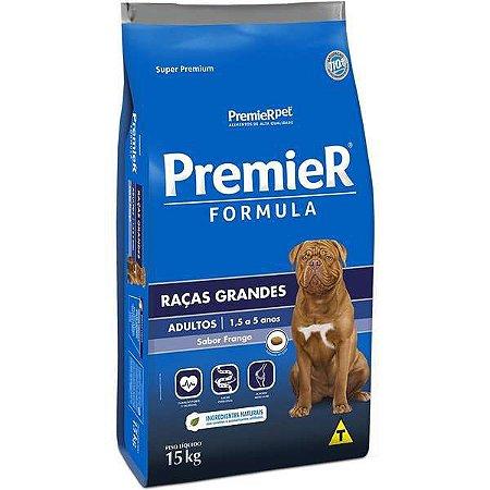 Ração Premier Pet Raças Grandes Adulto Frango e Arroz 15kg
