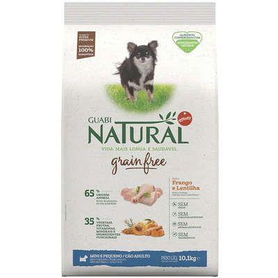 Ração Affinity Guabi Natural Grain Free Frango e Lentilha para Cães Adultos Raças Mini e Pequenas 10,1kg