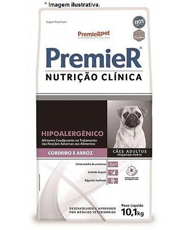 Ração PremieR Nutrição Clínica Hipoalergênico Proteína de Cordeiro e Arroz Pedaços Pequenos 10,1kg