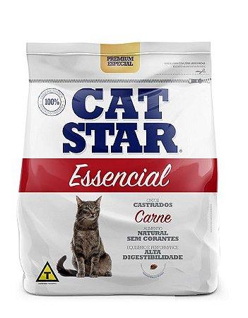 Ração Cat Star Essencial Carne Castrados 10,1kg
