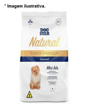 Ração Super Premium Dog Star Essencial Natural Adulto Mini Bitts 15kg