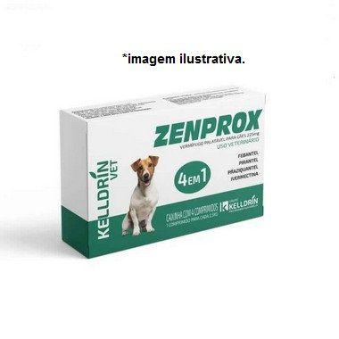 Vermífugo Zenprox Cães - 4 Comprimidos 1 para  Cada 2,5Kg