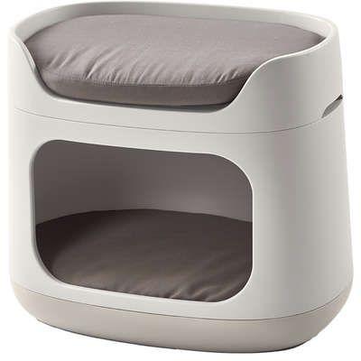 Cama Puff Bunk Bed Pet com Almofada e Transporte Curver