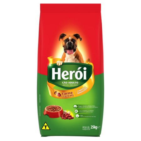 Ração Affinity Herói Carne e Cereais para Cães Adultos 25kg