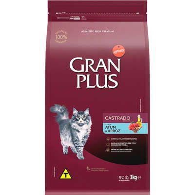Ração GranPlus Affinity Atum & Arroz para Gatos Castrados 3kg