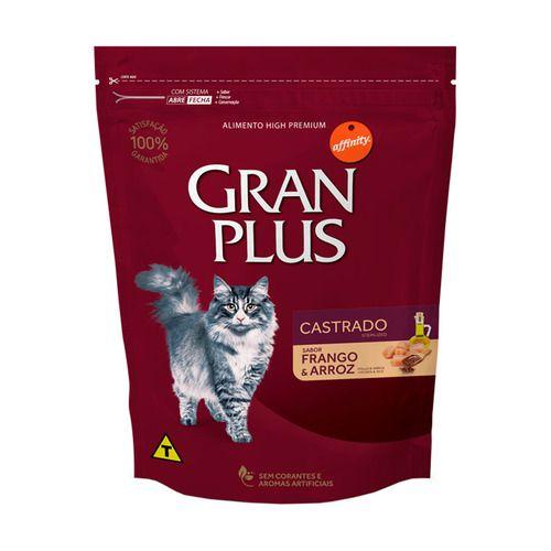 Ração Gran Plus Affinity Frango e Arroz para Gatos Castrados Adultos 3kg