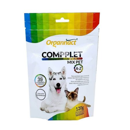 Suplemento Vitamínico Organnact Compplet Mix Pet A-Z Tabs 120gr