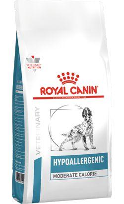 Ração Royal Canin Veterinary Hypoallergenic Moderate Calorie para Cães Adultos 2kg
