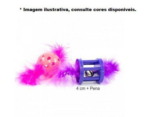 Brinquedo The Cat's Toy Duplo para  Gatos c/ Guizo e pluma