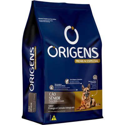 Ração Origens Premium Especial Frango e Cereais Integrais para Cão Sênior 15kg