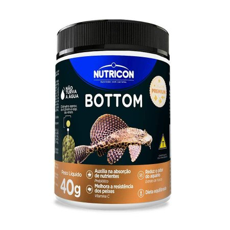 Ração Peixe Bottom 40gr