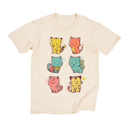 Camiseta Bege Catch 'Em All (Unissex)