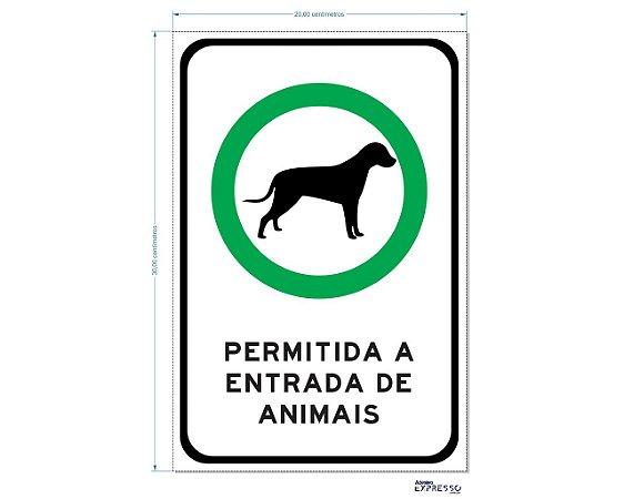 PERMITIDA A ENTRADA DE ANIMAIS ADESIVO OU PLACA