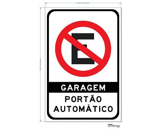 GARAGEM PORTÃO AUTOMÁTICO ADESIVO OU PLACA