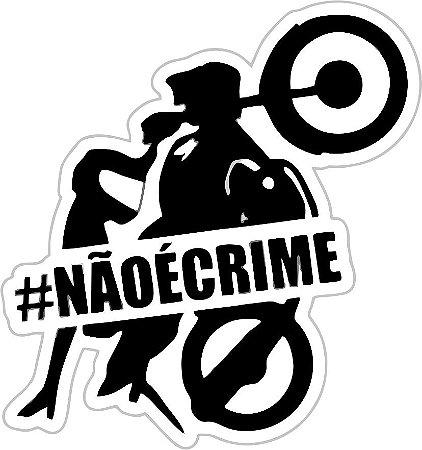 ADESIVO #NÃOÉCRIME