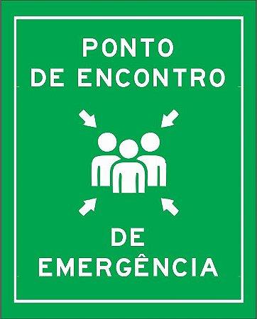 PONTO DE ENCONTRO DE EMERGÊNCIA ADESIVO OU PLACA