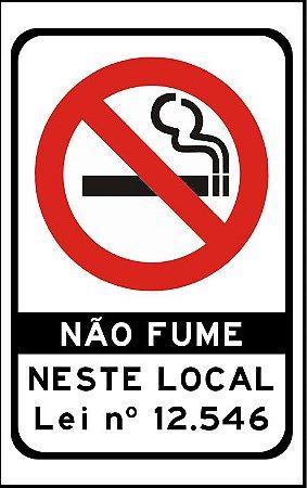 PROIBIDO FUMAR ADESIVO OU PLACA
