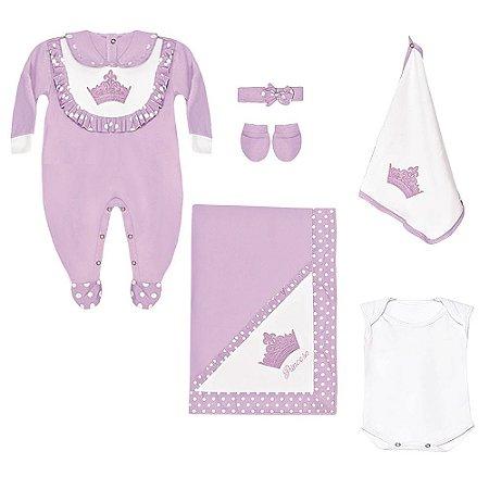 Saída Maternidade Princesinha 6 Peças