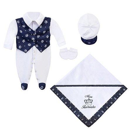 Saída Maternidade Navy Blue 4 Peças