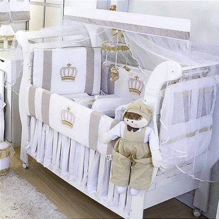 Kit Berço Rei Palha Listrado 10 Peças