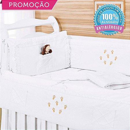 Kit Berço Ursinho Chocolate 09 Peças