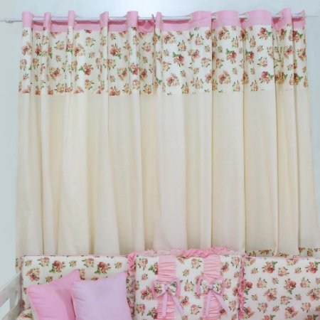 CORTINA SIMPLES FLORAL LUXO