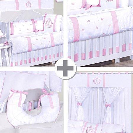 Combo Collection  Com a Inicial do Bebê Rosa