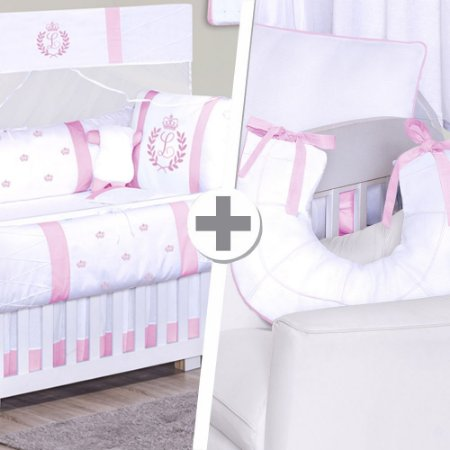 Combo Confort  Com a Inicial do Bebê Rosa