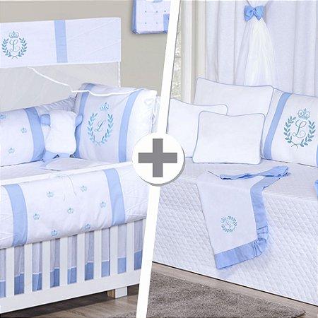 Combo Duo Feito a Mão Azul Bebê