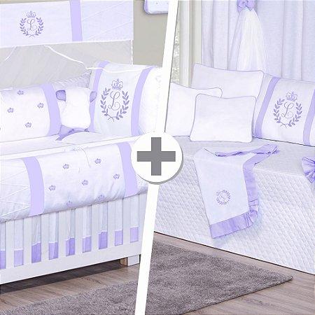 Combo Duo Com a Inicial do bebê Lilás