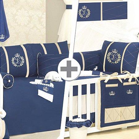 Combo Duo Com a Inicial do bebê Luxo