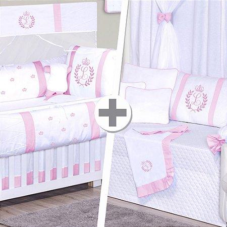 Combo Duo Inicial do bebê Rosa
