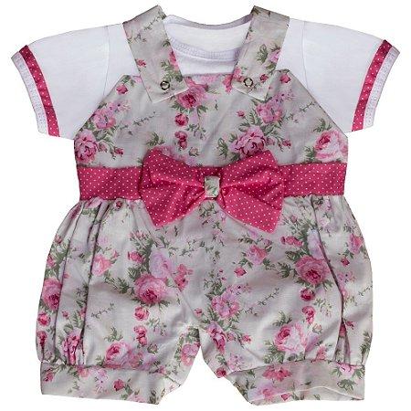 Macacão Para Bebê Manga Curta Eduarda