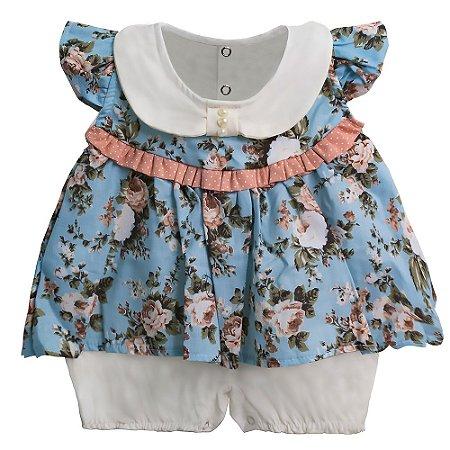 Macacão Para Bebê Princesa Floral